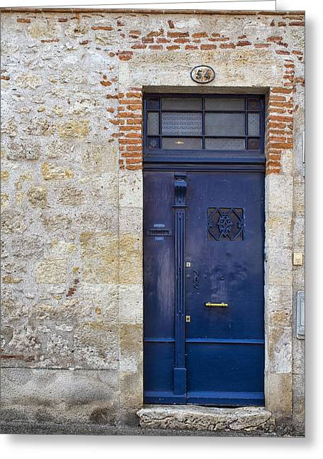 South West France Greeting Cards - South of France Dark Blue Door Greeting Card by Nomad Art And  Design