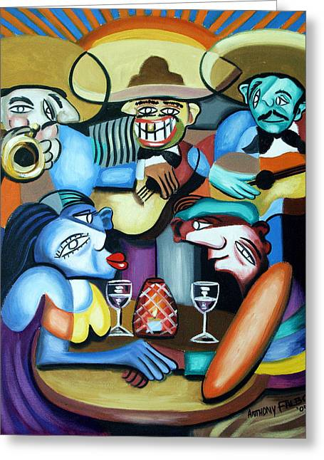 Women Drinking Greeting Cards - South of the boarder Greeting Card by Anthony Falbo