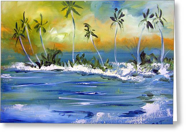 South Pacific Greeting Card by Patricia Taylor