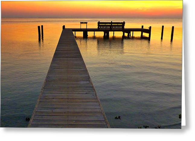 South Padre Island Texas Greeting Cards - South Padre Sunset Greeting Card by Lyn Scott