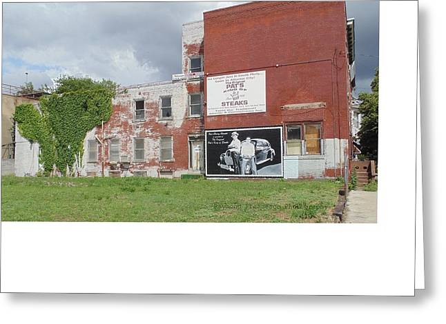 South Philadelphia Greeting Cards - South Philly Wall Ad Greeting Card by Raymond Francesco