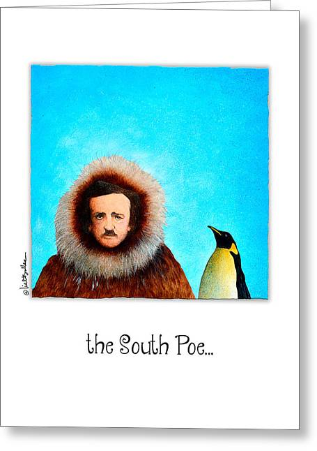 Edgar Allan Poe Greeting Cards - South Poe... Greeting Card by Will Bullas