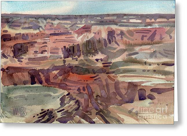South Rim Greeting Cards - South Rim 08 Greeting Card by Donald Maier