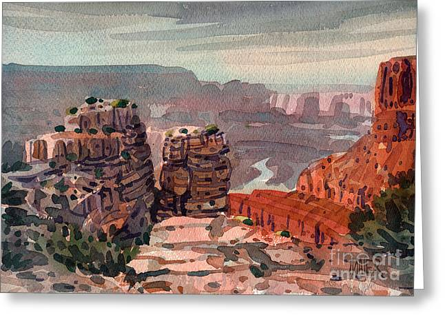 South Rim Greeting Cards - South Rim Greeting Card by Donald Maier