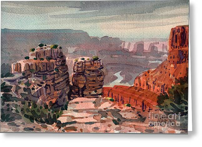 South Rim Greeting Card by Donald Maier