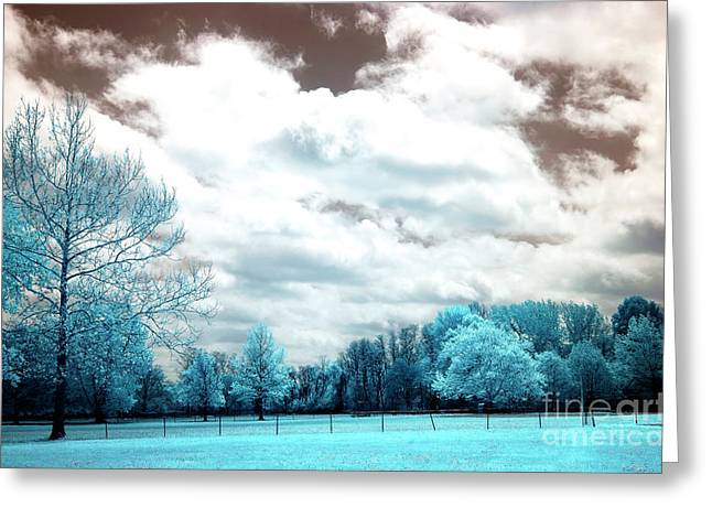 Field. Cloud Greeting Cards - South River Field Greeting Card by John Rizzuto