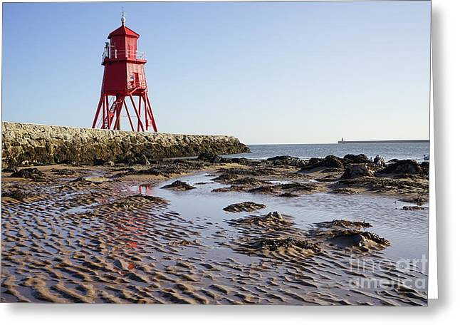 South Shields Groyne Greeting Card by Stephen Smith