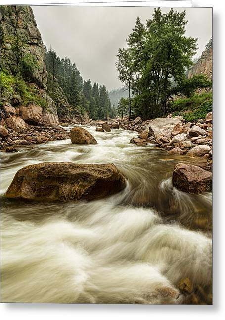 Fishing Creek Greeting Cards - South St Vrain Canyon Portrait Boulder County CO Greeting Card by James BO  Insogna