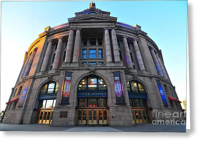 The Bean Greeting Cards - South Station Boston  Greeting Card by Catherine Reusch  Daley