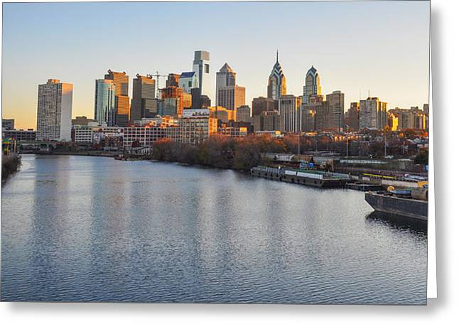 River View Greeting Cards - South Street Bridge View of Philadelphia Greeting Card by Bill Cannon