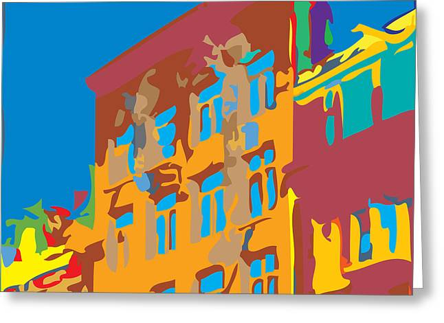 South Street Greeting Card by Kevin  Sherf