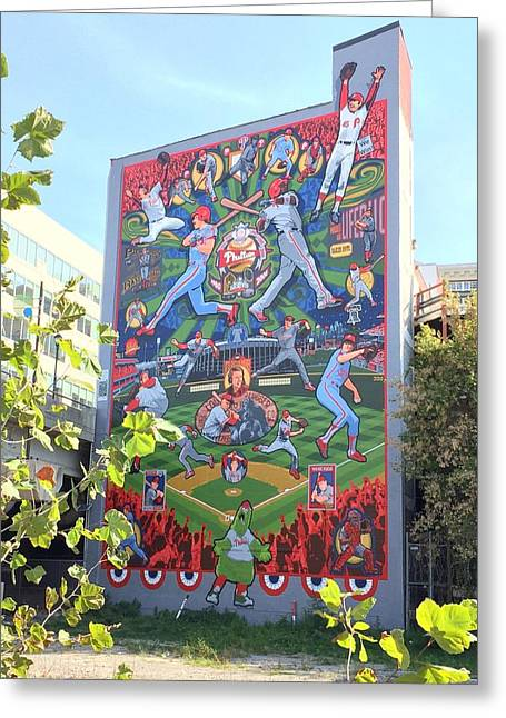 South Street Phillies Mural Greeting Card by Alice Gipson