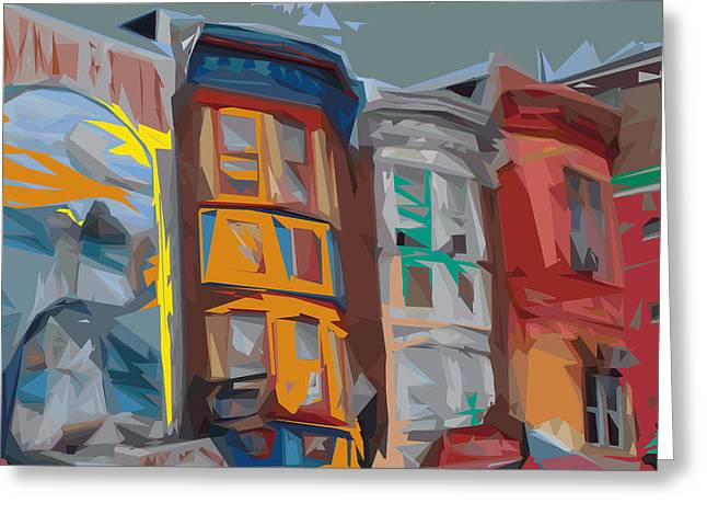 Philadelphia Digital Art Greeting Cards - South Street Revisited Greeting Card by Kevin  Sherf