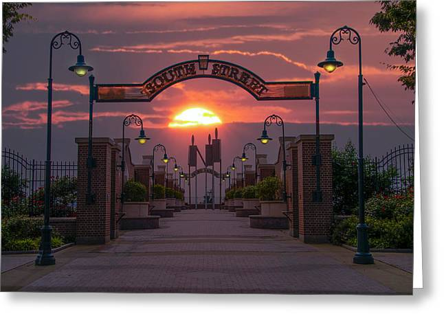 South Philadelphia Digital Art Greeting Cards - South Street Sunrise Greeting Card by Bill Cannon