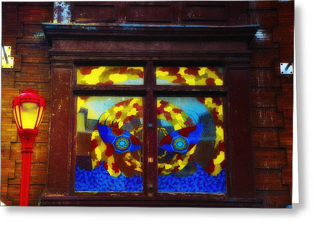 South Philadelphia Digital Greeting Cards - South Street Window Greeting Card by Bill Cannon