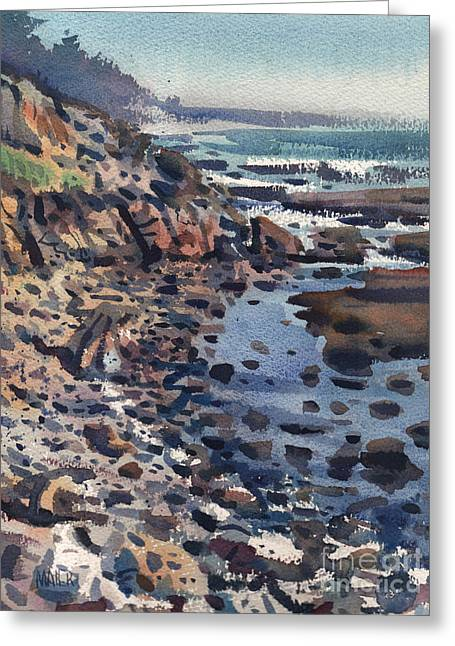 Pacific Greeting Cards - South to Pigeon Point Greeting Card by Donald Maier