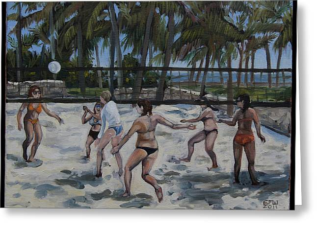 Edward Williams Greeting Cards - SouthBeachVolley Greeting Card by Edward Williams