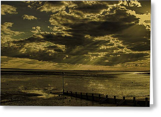 Low Light Greeting Cards - Southend On Sea Greeting Card by Martin Newman