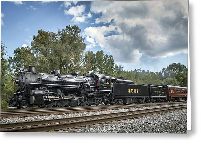 21st Greeting Cards - Southern 4501 At Railfest 2015 - 3 Greeting Card by Jim Pearson