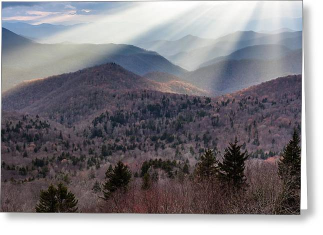 Western North Carolina Greeting Cards - Southern Appalachian Mountain Landscape Scenic Greeting Card by Mark VanDyke