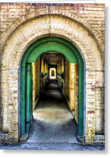 Southern Arches # 2 Greeting Card by Mel Steinhauer