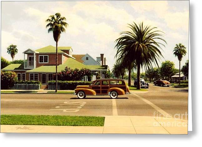 Station Wagon Paintings Greeting Cards - Southern California Greeting Card by Frank Dalton