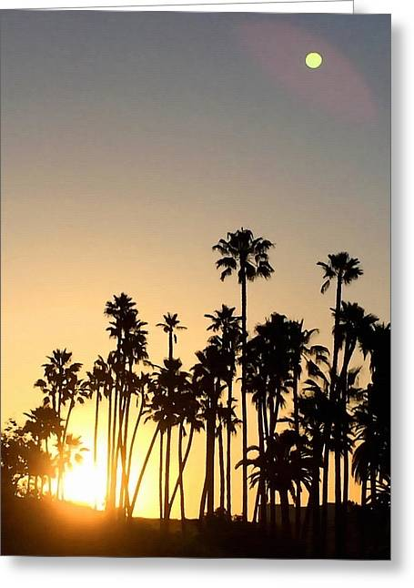 Southern California Sunrise Greeting Card by Art Block Collections