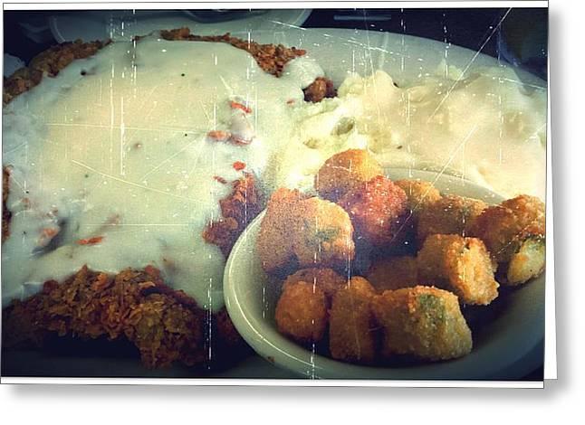 Menu Greeting Cards - Southern Comfort Deep Fried Greeting Card by Marisela Mungia