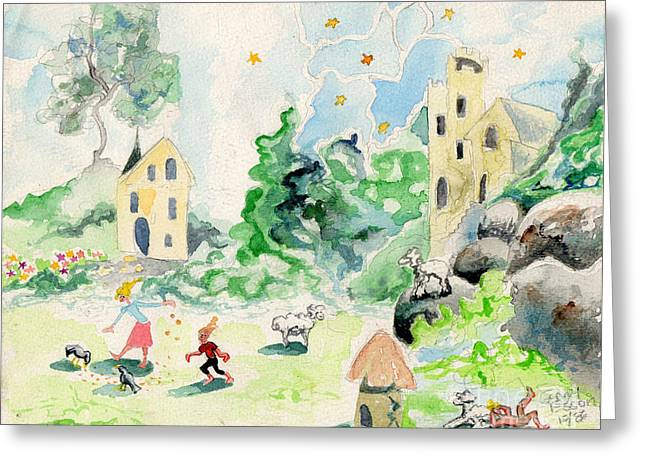 Baby Room Greeting Cards - Southern France Greeting Card by Genevieve Esson