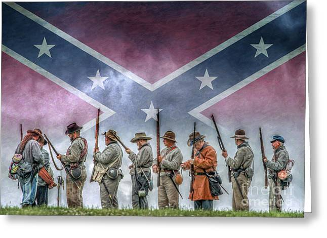 Recently Sold -  - Civil Greeting Cards - Southern Heritage Southern Pride Greeting Card by Randy Steele