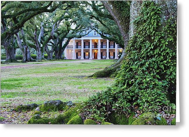 Southern Manor Home Greeting Card by Jeremy Woodhouse