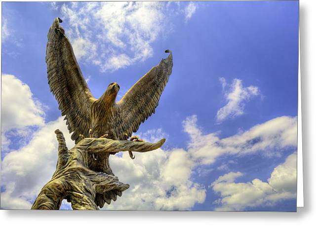 Hattiesburg Photographs Greeting Cards - Southern Miss Golden Eagles Greeting Card by JC Findley