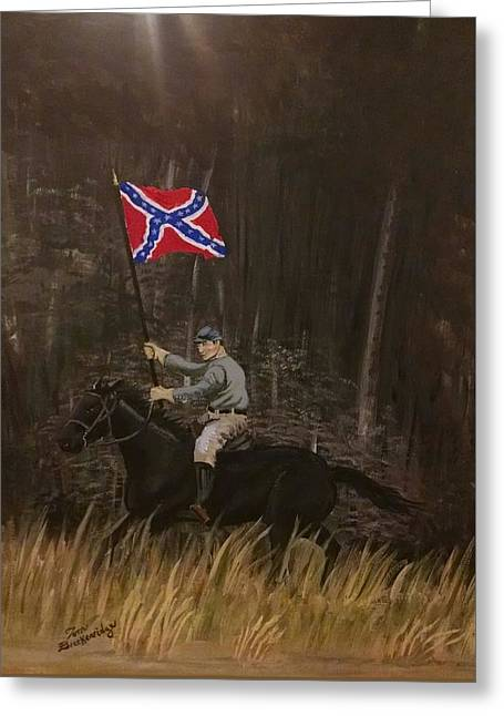Civil Greeting Cards - Southern Pride Greeting Card by Thomas Breckenridge