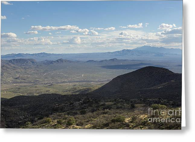 Rincon Mountains Greeting Cards - Southern View from Mica Mountain Greeting Card by Mike Cavaroc