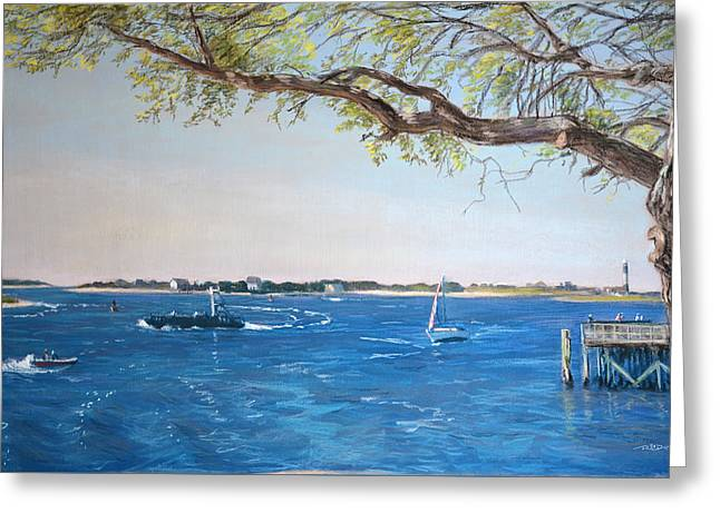 Plein Air Pastels Greeting Cards - Southport Greeting Card by Christopher Reid