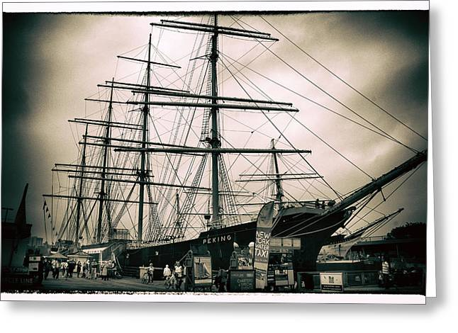 South Street Seaport Greeting Card by Jessica Jenney