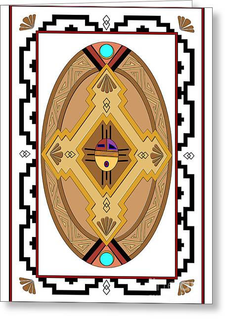 Hightower Greeting Cards - Southwest Collection - Oval Design Greeting Card by Tim Hightower