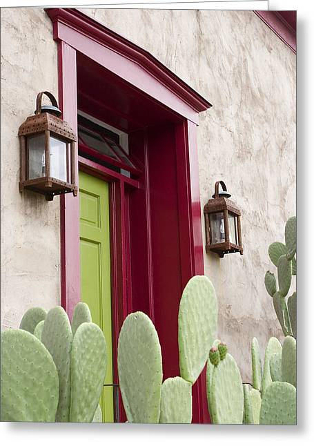 Entryway Greeting Cards - Southwest Doorway Greeting Card by Elvira Butler