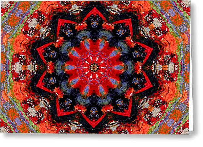 Book Cover Art Mixed Media Greeting Cards - Southwest Spirit Greeting Card by Natalie Holland