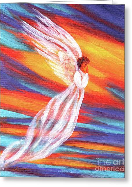 Sunset Originals Greeting Cards - Southwest Sunset Angel Greeting Card by Laura Iverson