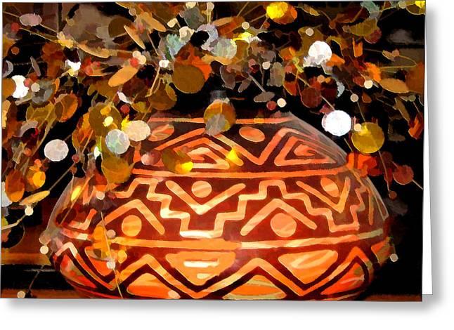 Indian Vase Greeting Cards - Southwest Vase Art Greeting Card by Gary Baird