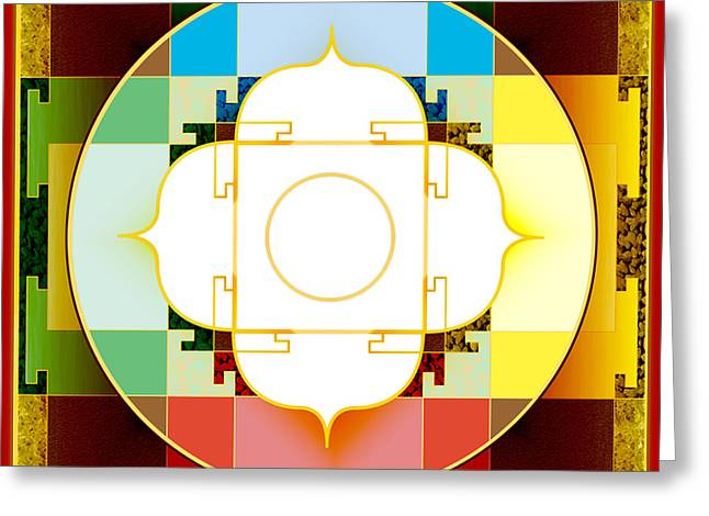 Tibetan Buddhism Greeting Cards - Sovereignty Greeting Card by Clare Goodwin