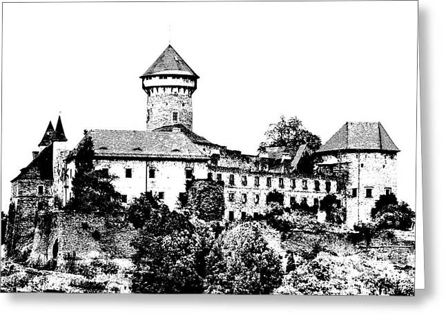 Sovinec - Castle Of The Holy Order Greeting Card by Michal Boubin