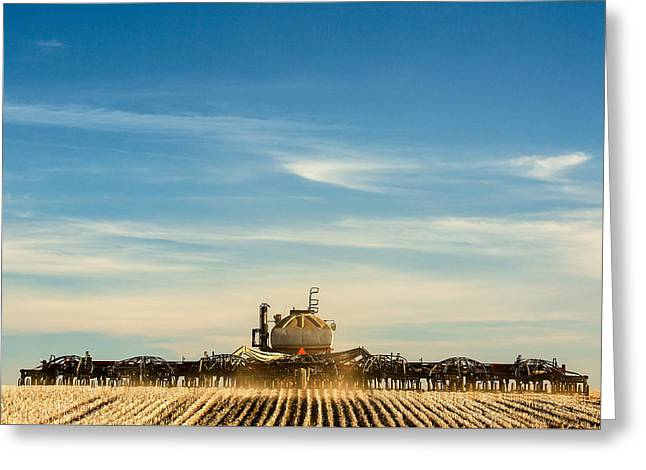 Sowing From Behind Greeting Card by Todd Klassy