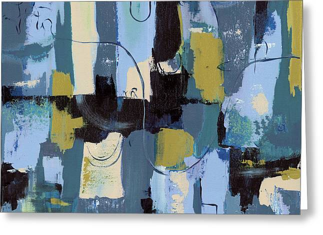 Blue Abstracts Greeting Cards - Spa Abstract 2 Greeting Card by Debbie DeWitt