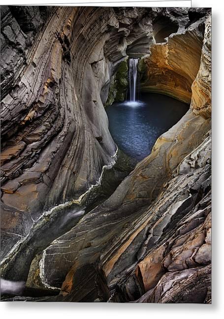 Spa Pool, Hamersley Gorge Greeting Card by Ignacio Palacios