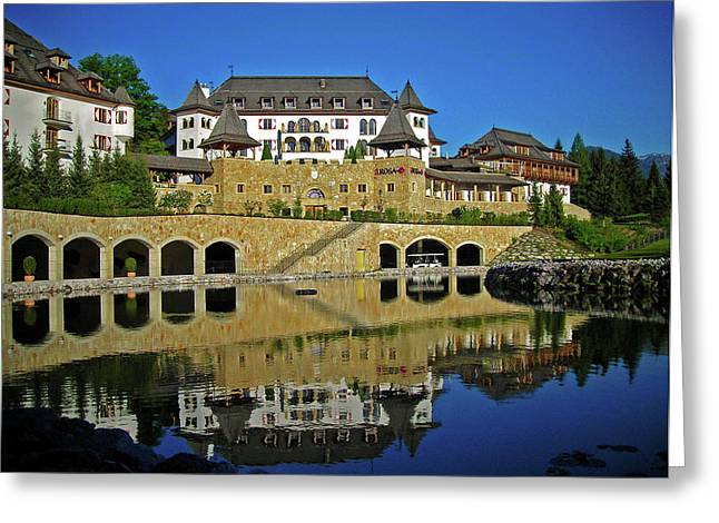 Spiegelung Greeting Cards - SPA Resort A-ROSA - Kitzbuehel Greeting Card by Juergen Weiss