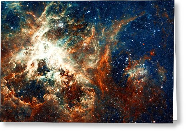 Hubble Telescope Photographs Greeting Cards - Space Fire Greeting Card by The  Vault - Jennifer Rondinelli Reilly