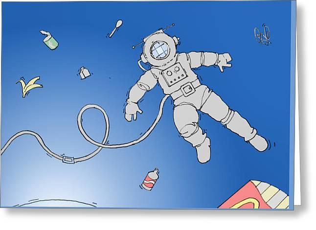 Space Greeting Card by H James Hoff