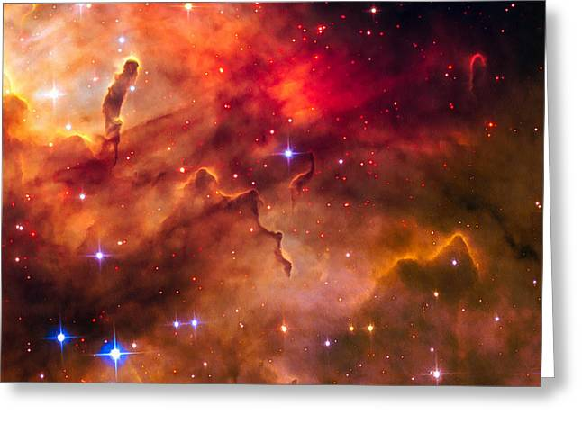 Space Image Cosmic Landscape Westerlund 2 Greeting Card by Matthias Hauser